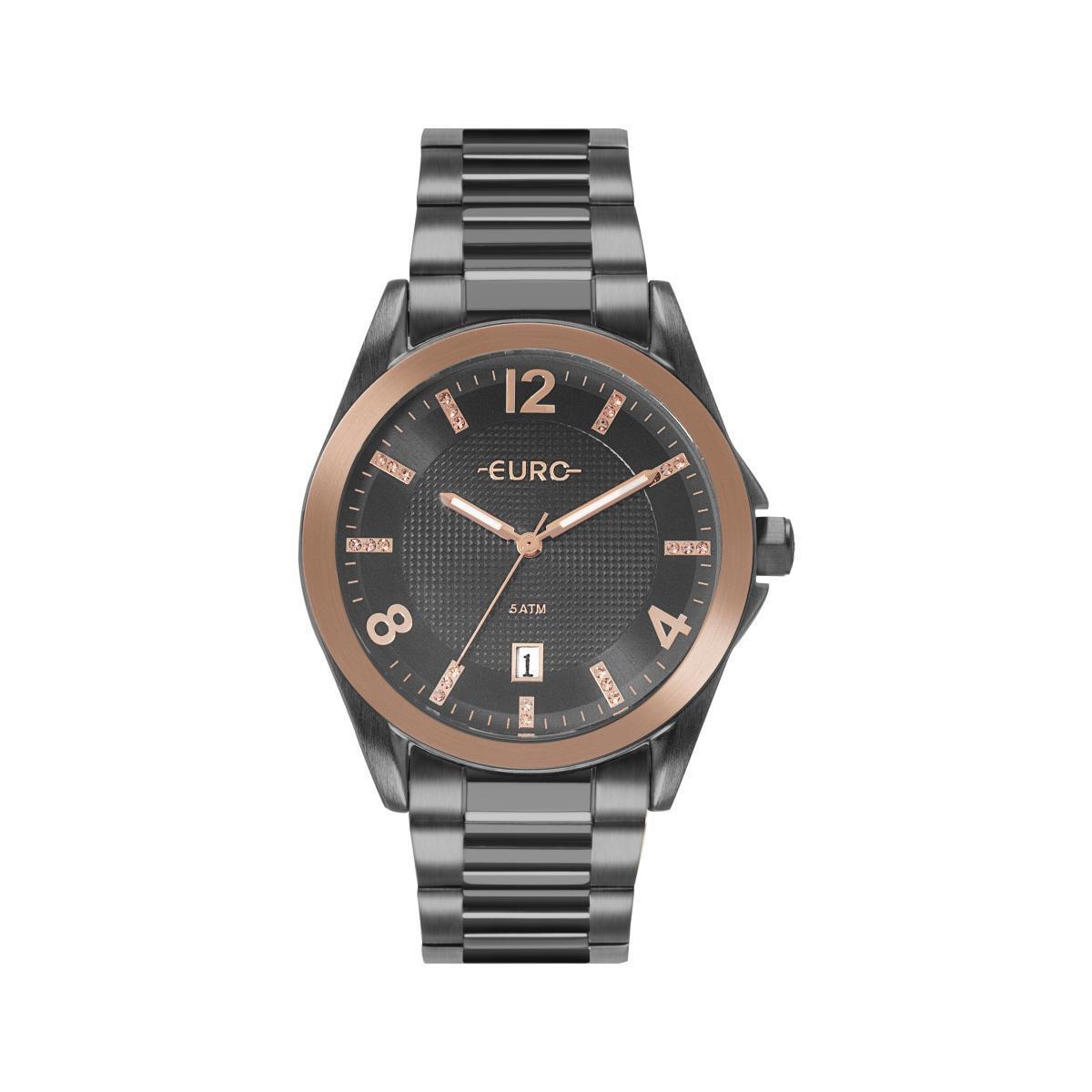 Relógio Feminino Euro EU2315HO/4C 42mm Aço Preto