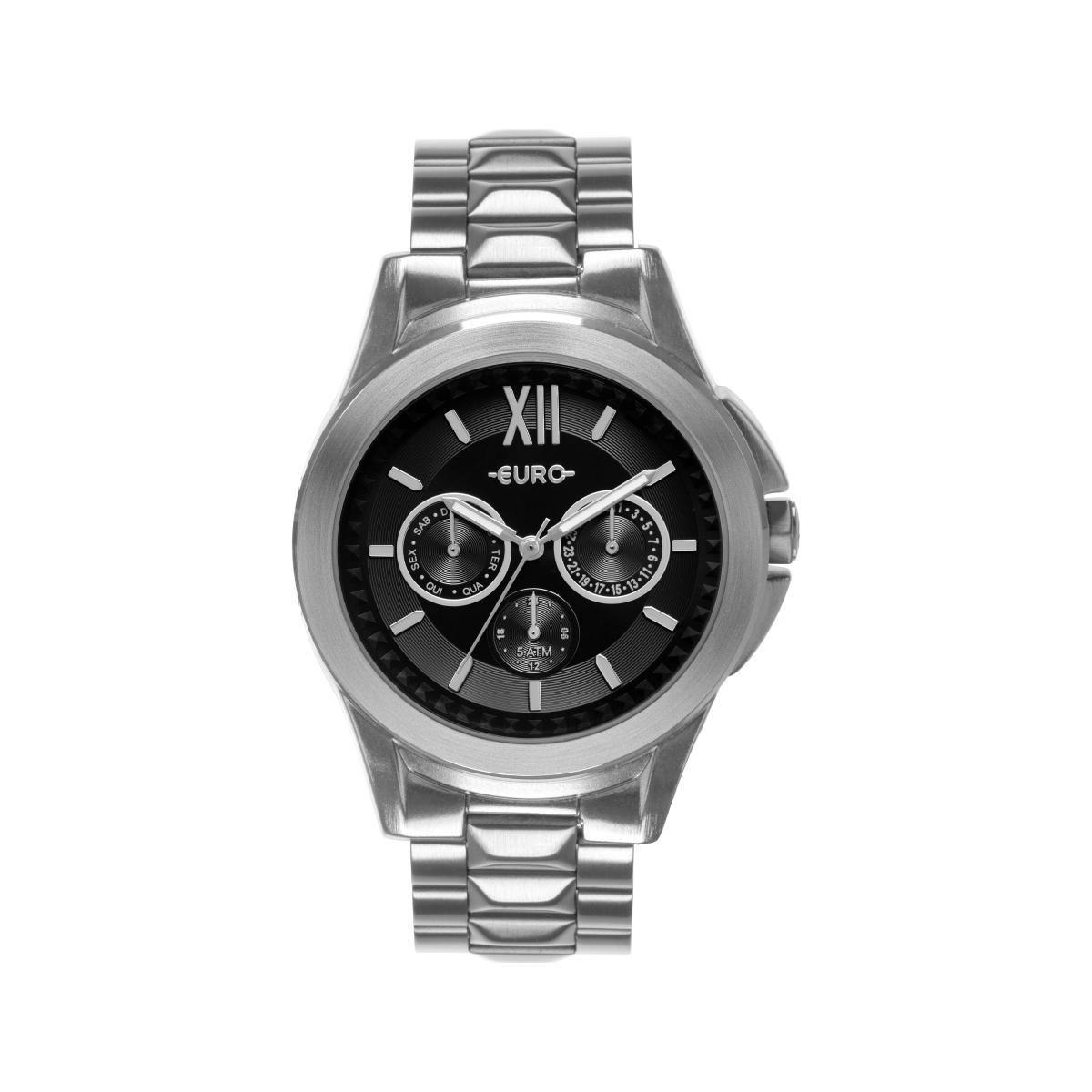 Relógio Feminino Euro EU6P29AGZ/3P 42mm Aço Prata