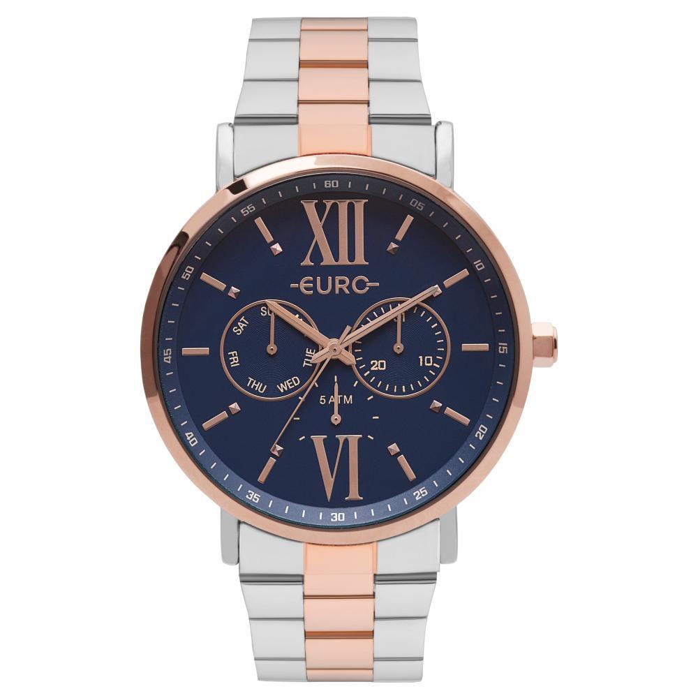 Relógio Feminino Euro EU6P29AHBBP/5A 43mm Aço Bicolor Prata/Rose