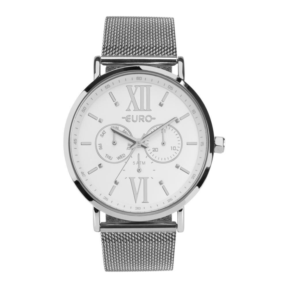 Relógio Feminino Euro EU6P29AHF/3K 43mm Aço Prata