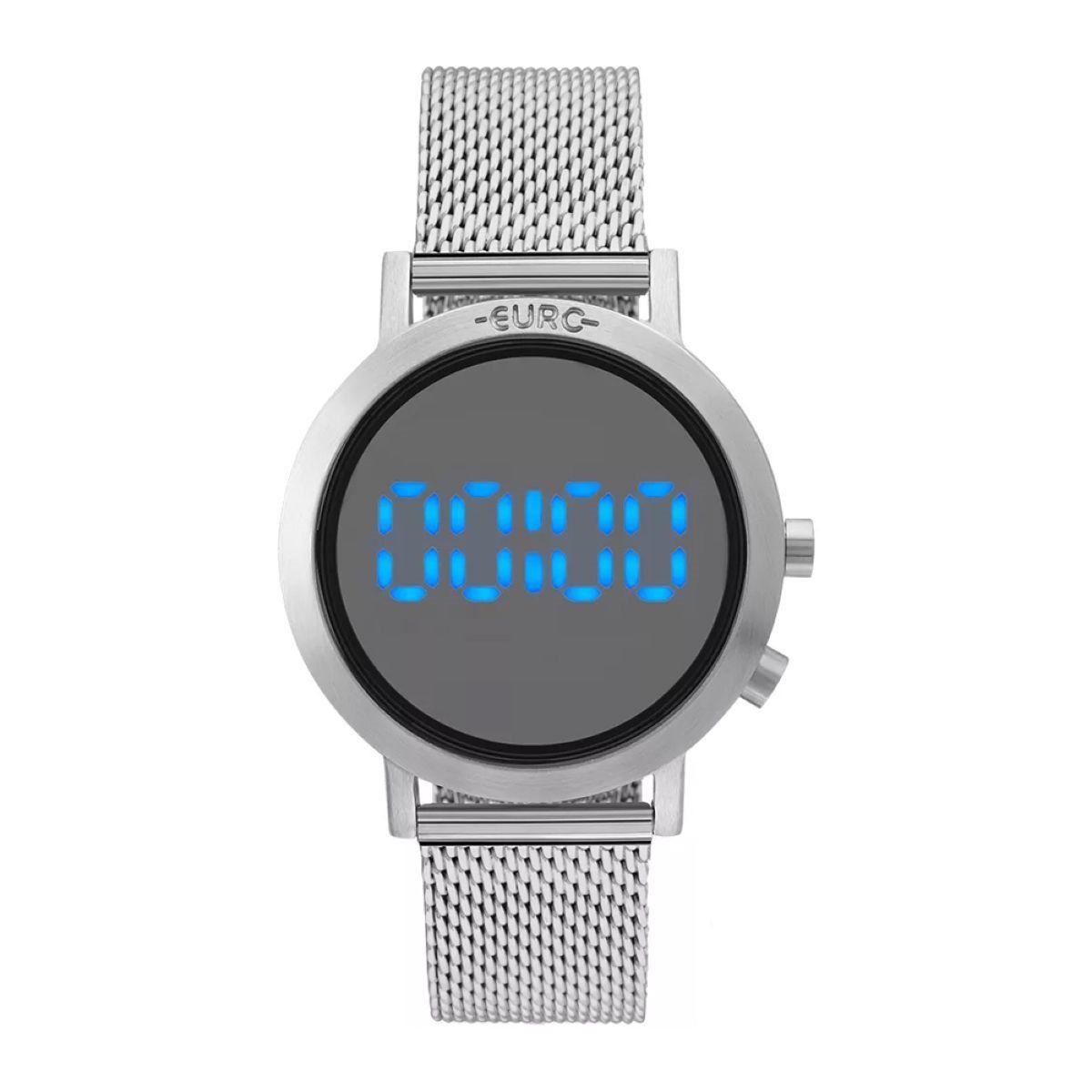 Relógio Feminino Euro EUBJ3407AB/3P Digital 38mm Aço Prata