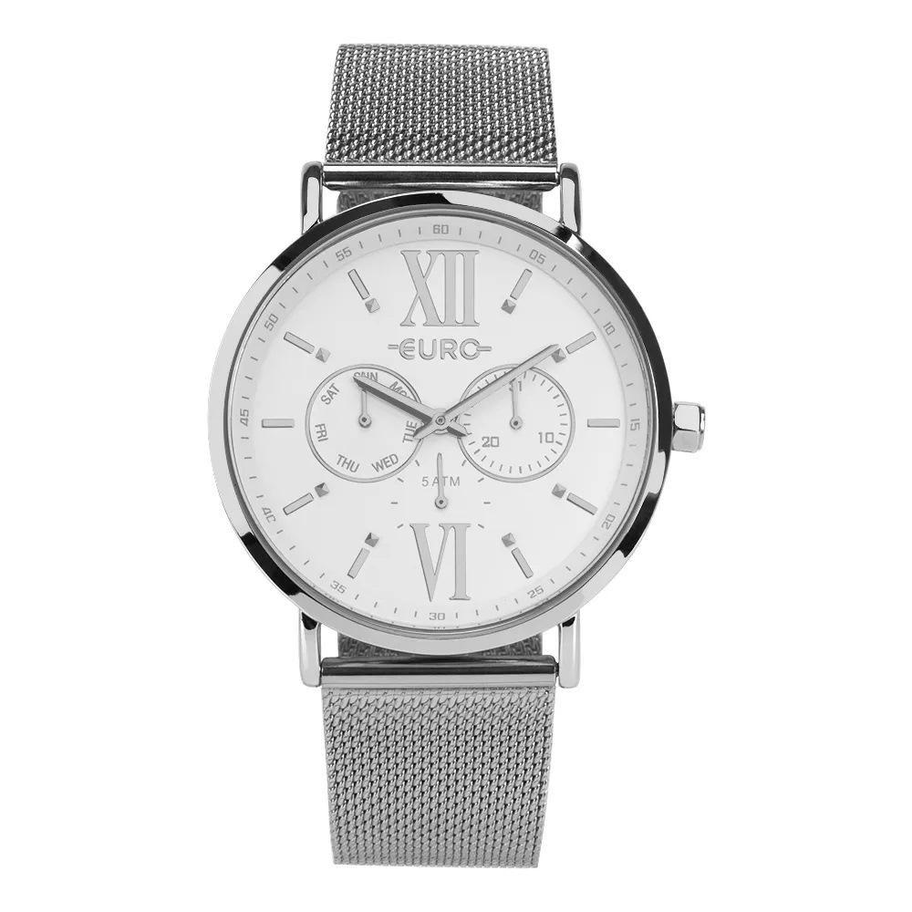 Relógio Feminino Euro  EUVD75AE/3K 43mm Aço Prata