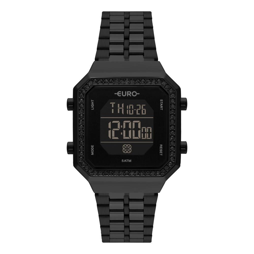 Relógio Feminino Euro Fashion Fit Digital EUBJK032AC/4P 34mm Aço Preto
