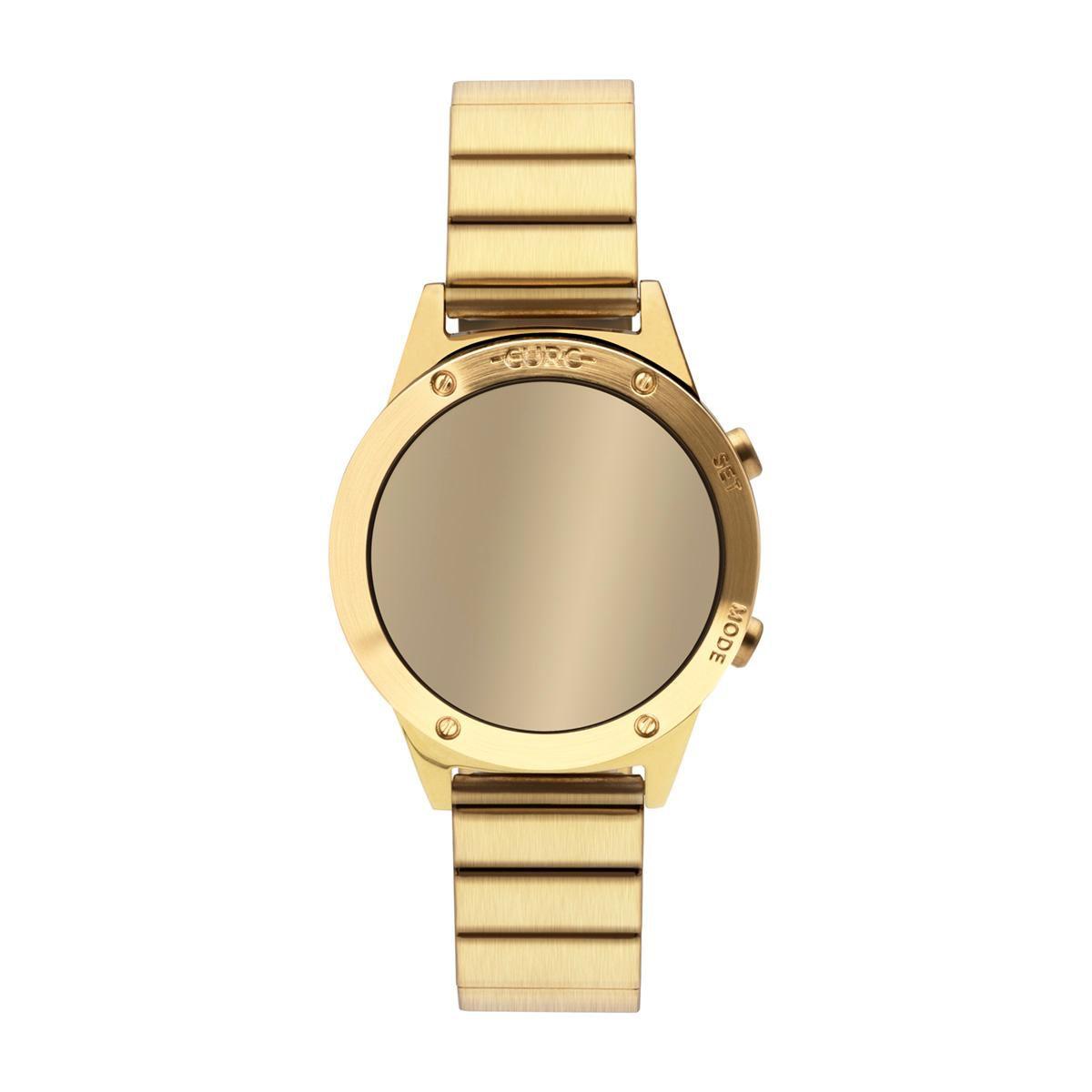 Relógio Feminino Euro Fashion Fit Reflexos EUJHS31BAB/4D 40mm Aço Dourado
