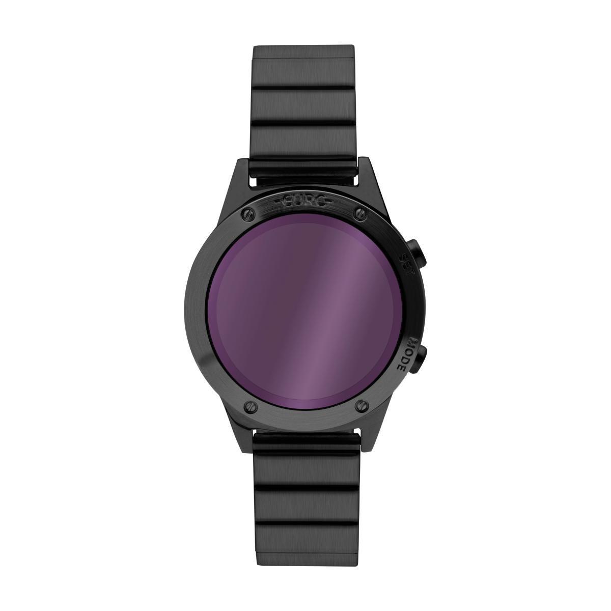 08713297812 Relógio Feminino Euro Fashion Fit Reflexos EUJHS31BAD 4G 40mm Aço Preto