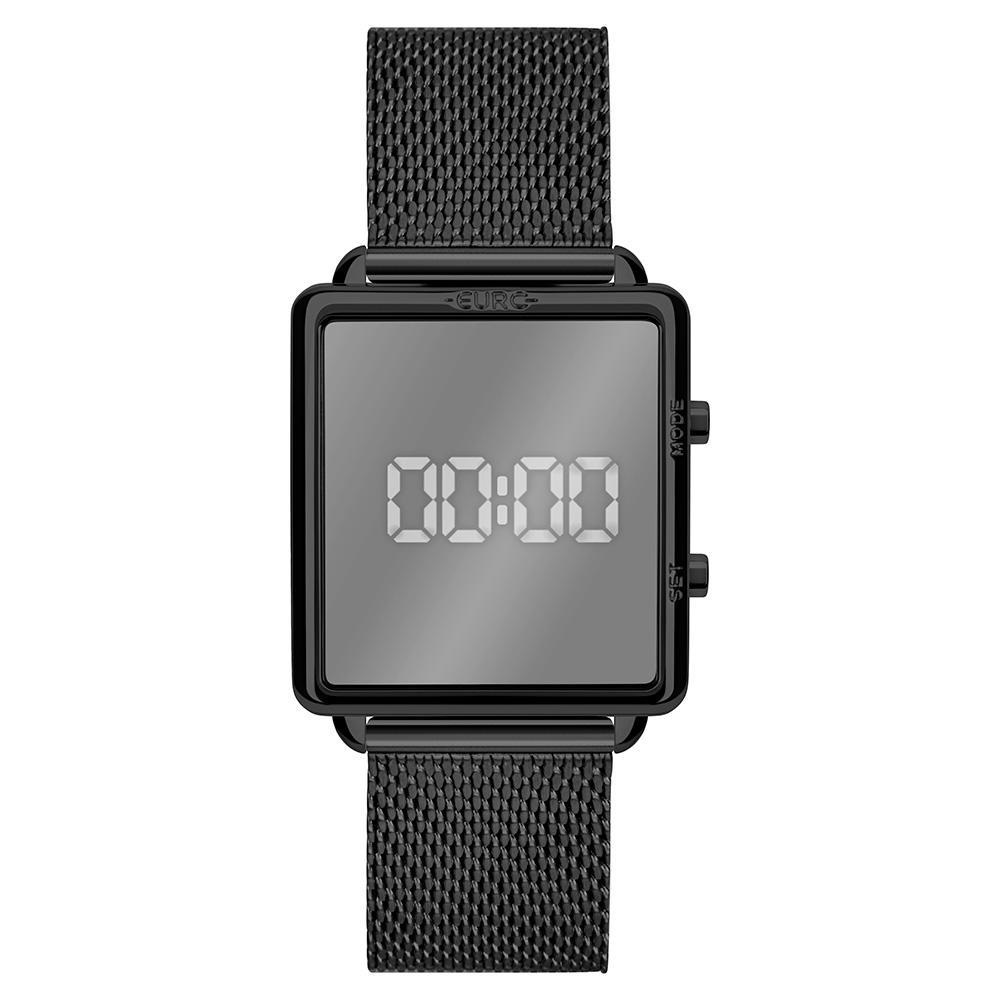 Relógio Feminino Euro Fashion Fit Reflexos EUJHS31BAP/4P 36mm Aço Preto
