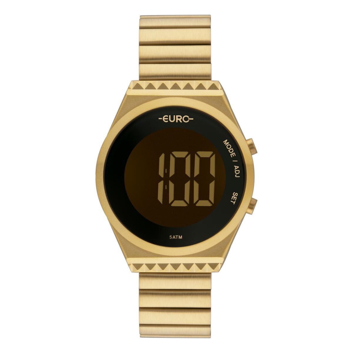 Relógio Feminino Euro Fashion Fit Slim EUBJT016AA/4D 38mm Aço Dourado