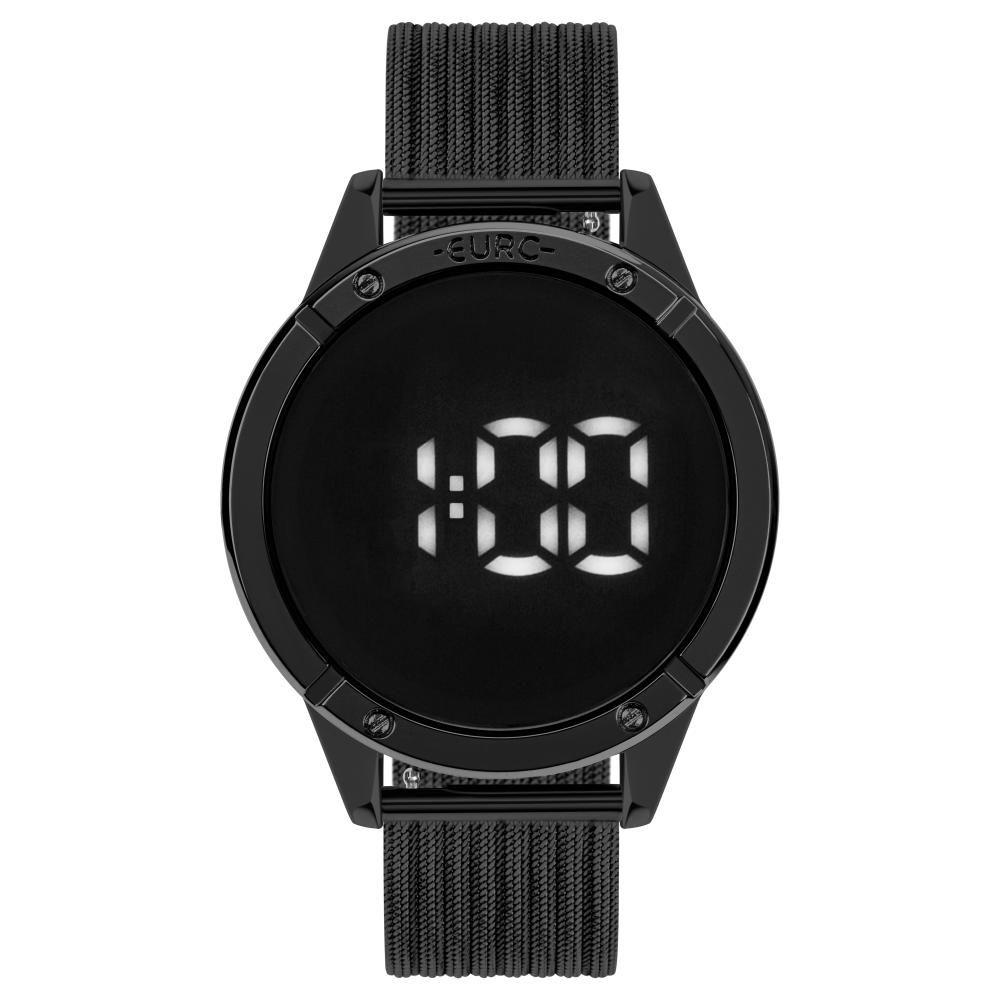 Relógio Feminino Euro Fashion Fit Touch EUBJ3912AC/4F 43mm Aço Preto