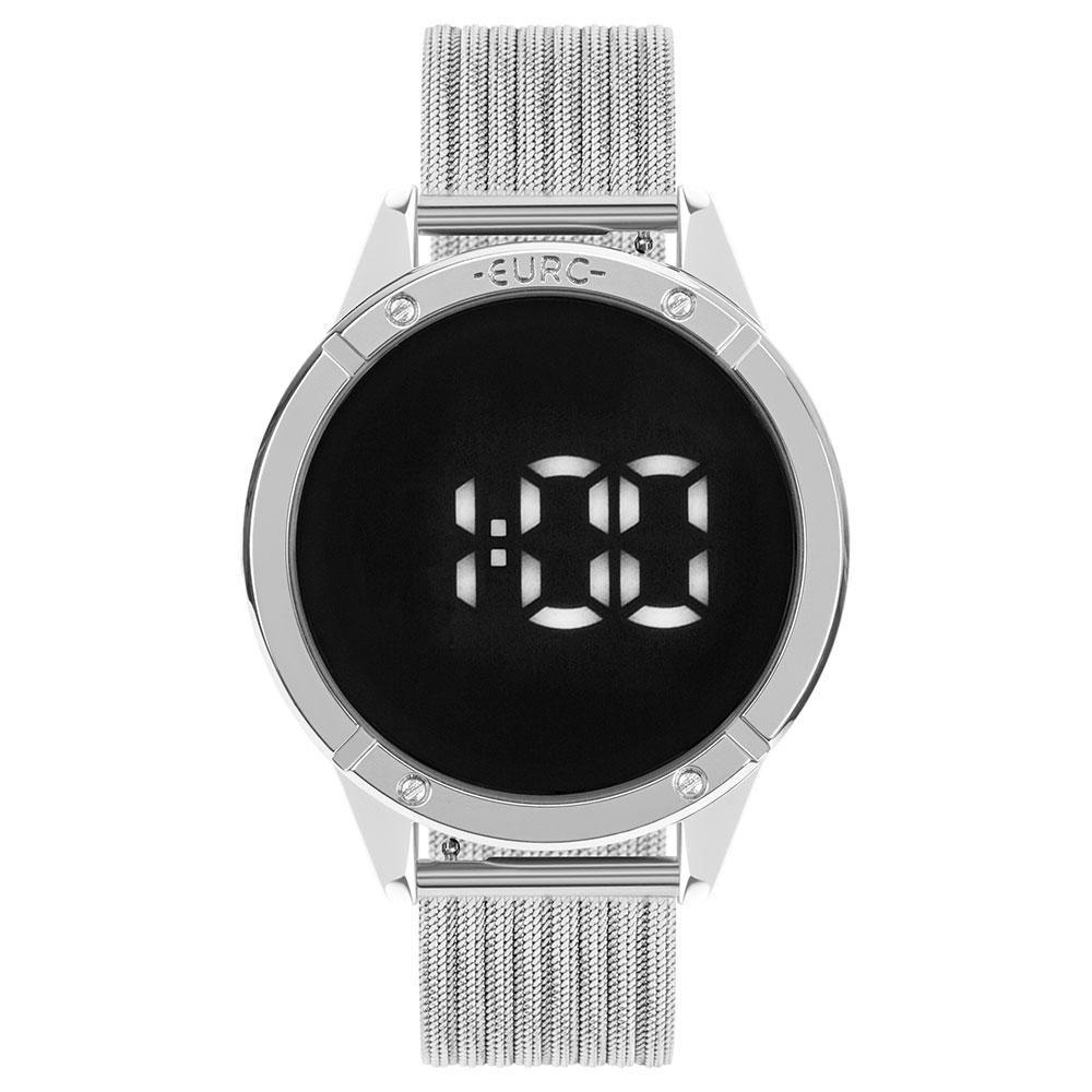 Relógio Feminino Euro Fashion Fit Touch EUBJ3912AD/4F 43mm Aço Prata