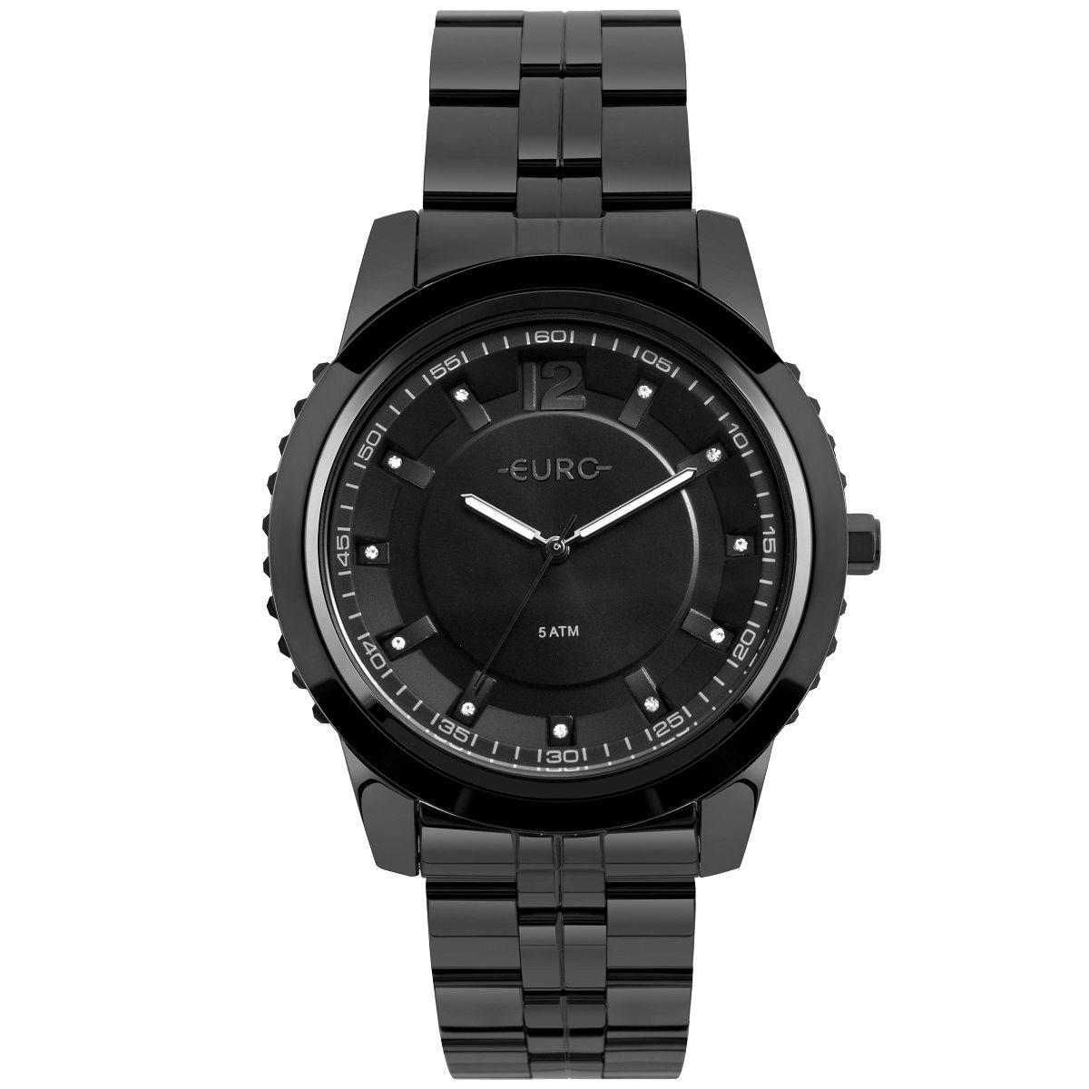 Relógio Feminino Euro Metal Glam EU2035YOF/4P 45mm Aço Preto