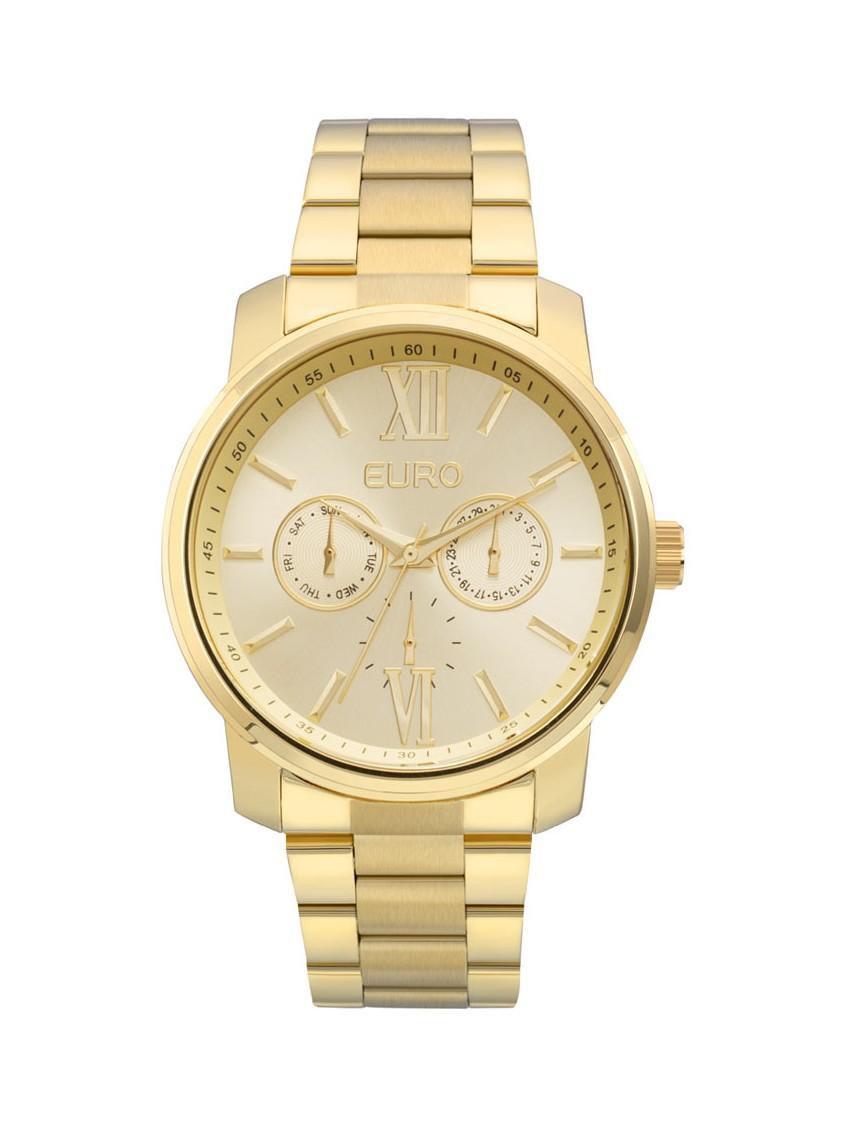 Relógio Feminino Euro Metallics EU6P29AGU/4D 43mm Aço Dourado