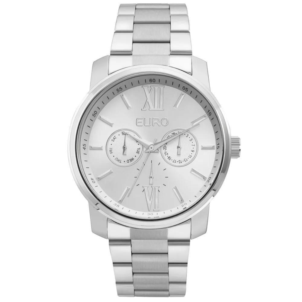 Relógio Feminino Euro Metallics EU6P29AGV/3K 43mm Aço Prata