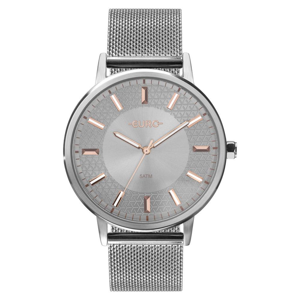 Relógio Feminino Euro Mix Texture EU2036YPC/3K Aço Prata