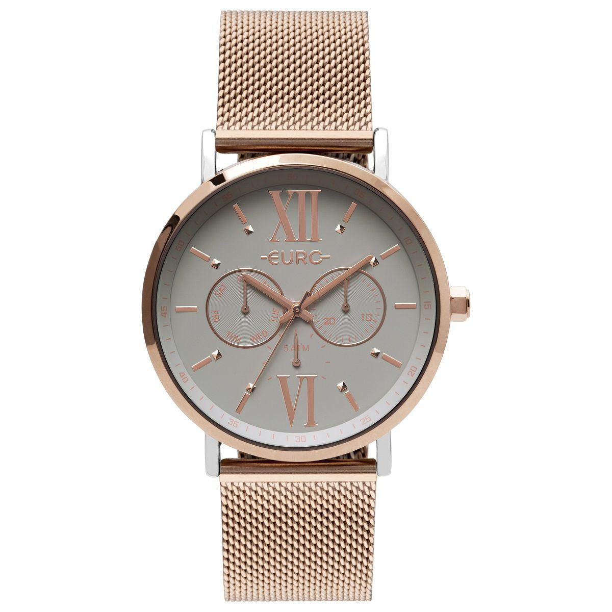 Relógio Feminino Euro Multi Glow EU6P29AHA/5K 43mm Aço Rosé