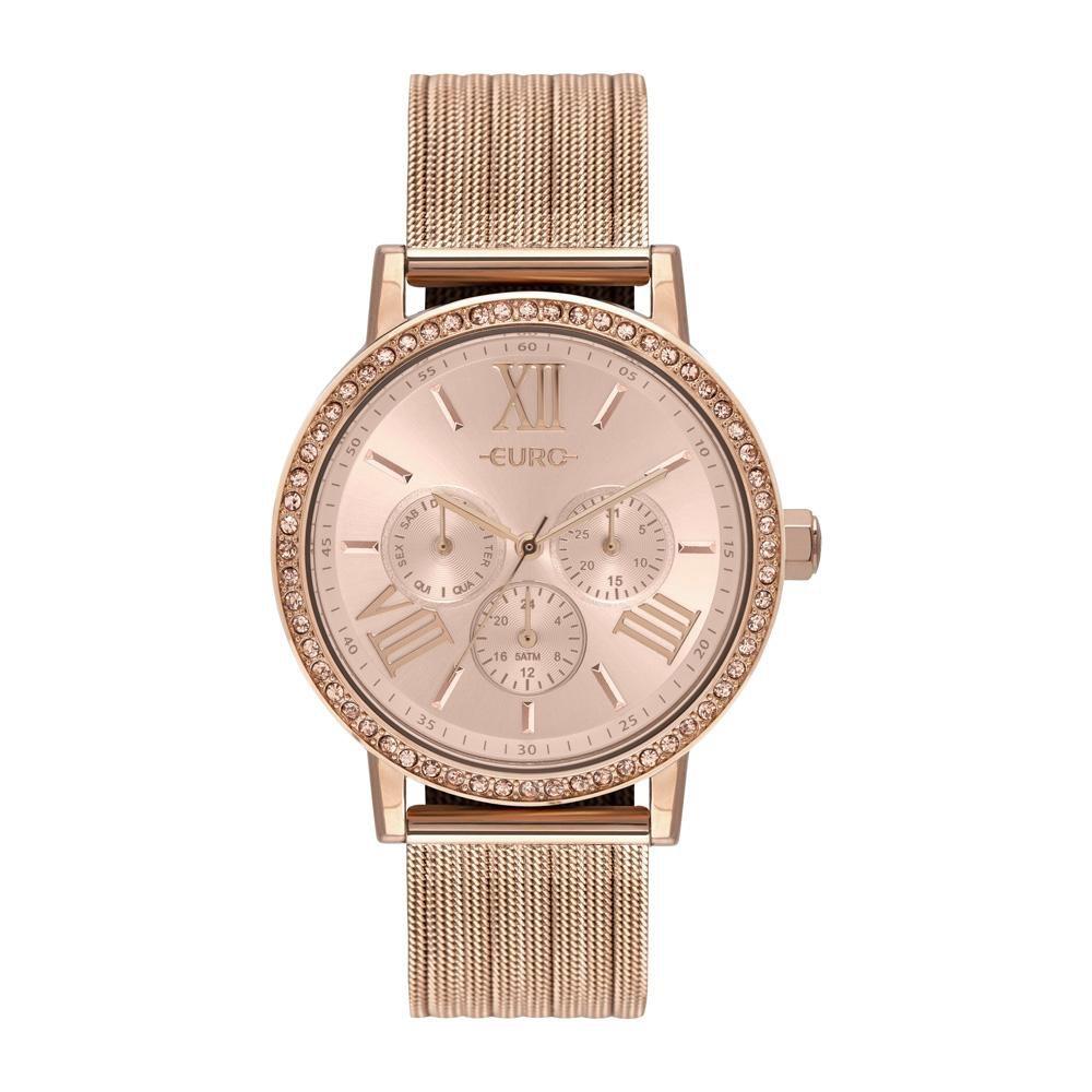 Relógio Feminino Euro Multiglow Party EU6P29AHM/4J 42mm Aço Rosé