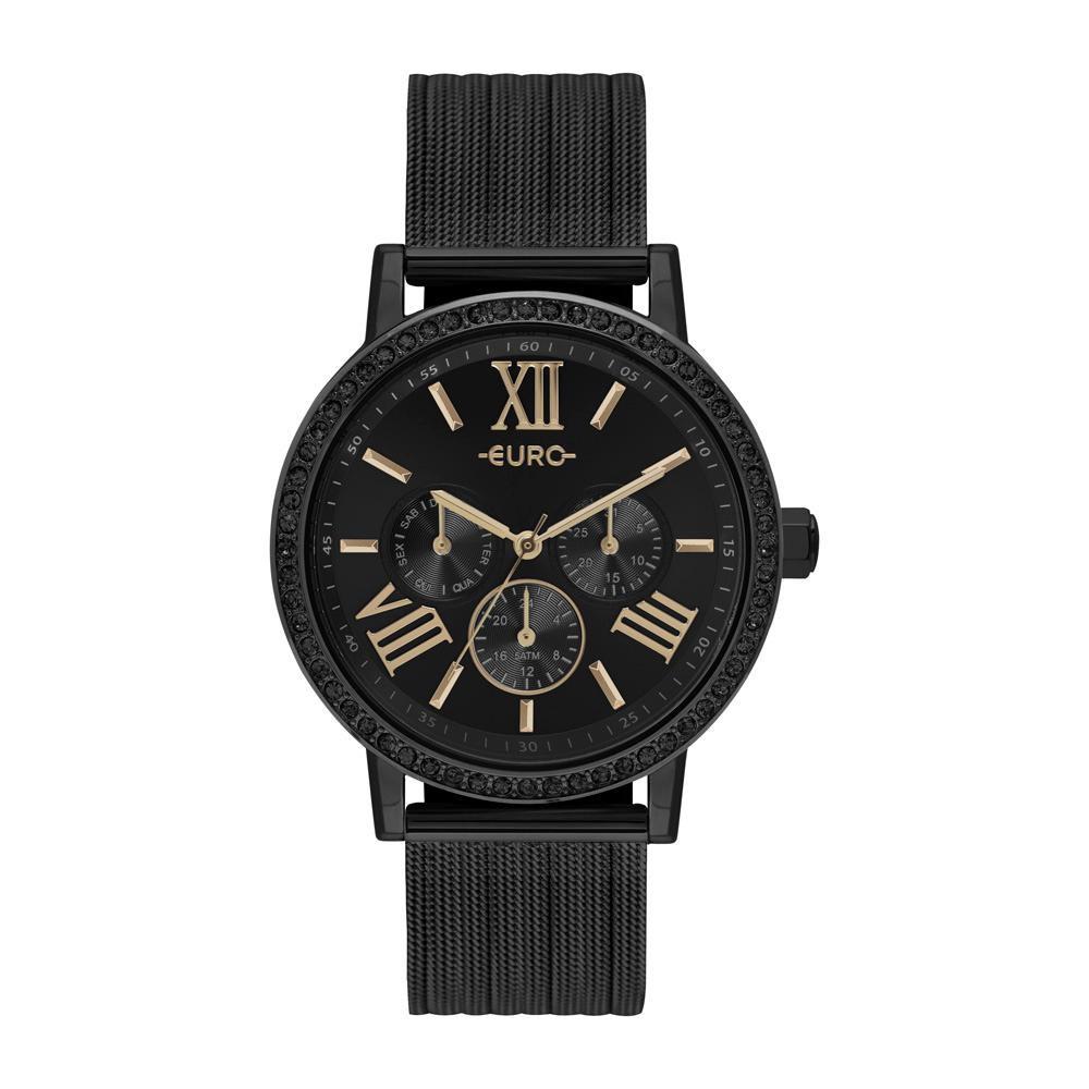 Relógio Feminino Euro Multiglow Party EU6P29AHN/4P 42mm Aço Preto