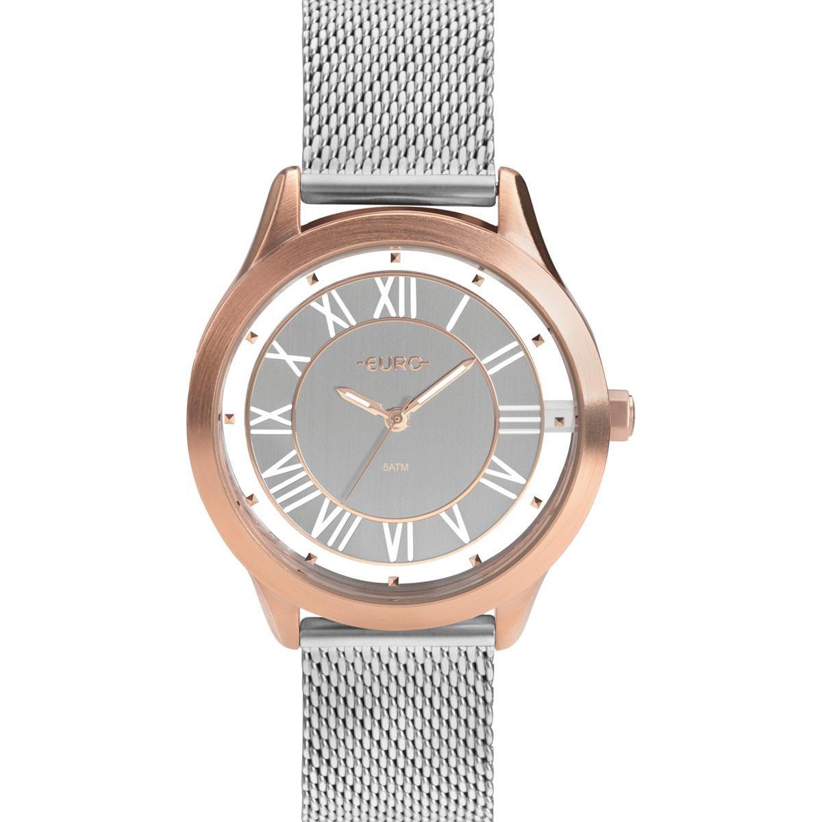 Relógio Feminino Euro Ouse Ser Você Mesma EU2039JJ/5K 43mm Aço Prata