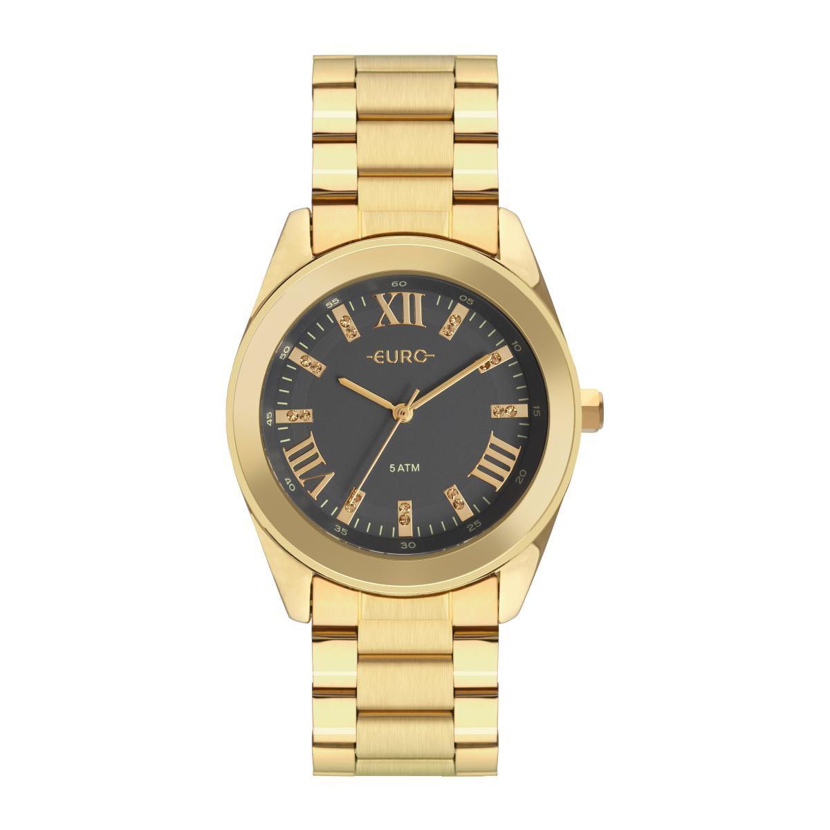 Relógio Feminino Euro Roman Shine EU2036YND/4C 38mm Aço Dourado