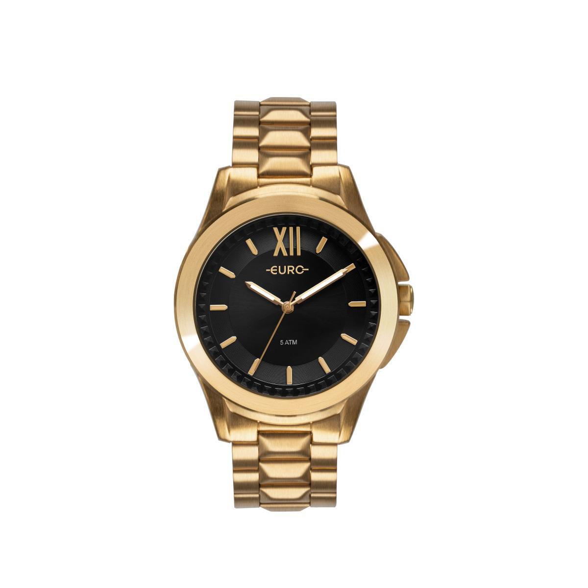 Relógio Feminino Euro Spike Fever Power EU2036YMV/4P 42mm Aço Dourado