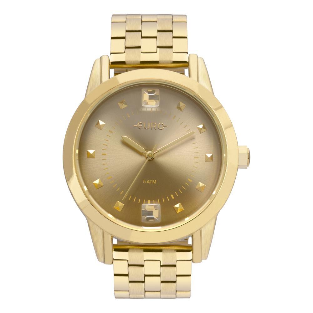 Relógio Feminino Euro Spike Illusion EU2035YRT/4D 40mm Aço Dourado