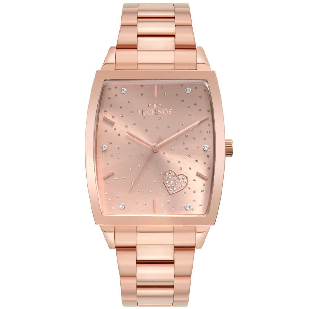 Relógio Feminino Fashion Trend Technos 2035MUK/1T 35MM Aço Rosé