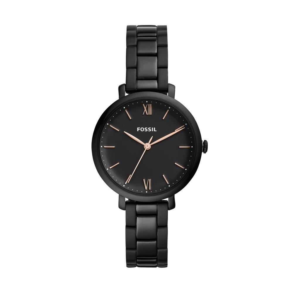 Relógio Feminino Fossil Carlie ES4511/1PN 36mm Aço Preto