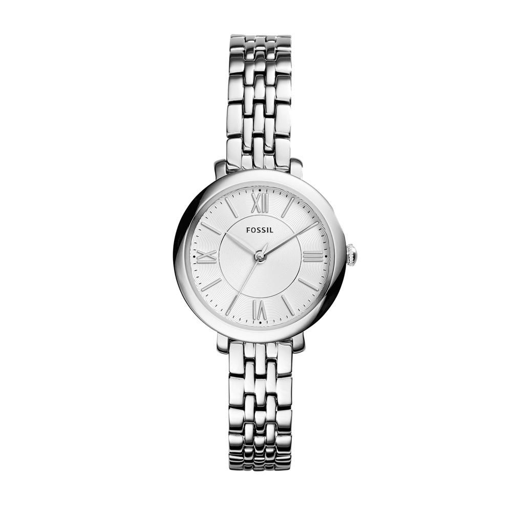 Relógio Feminino Fossil Jacqueline Mini ES3797/1KN 27mm Aço Prata