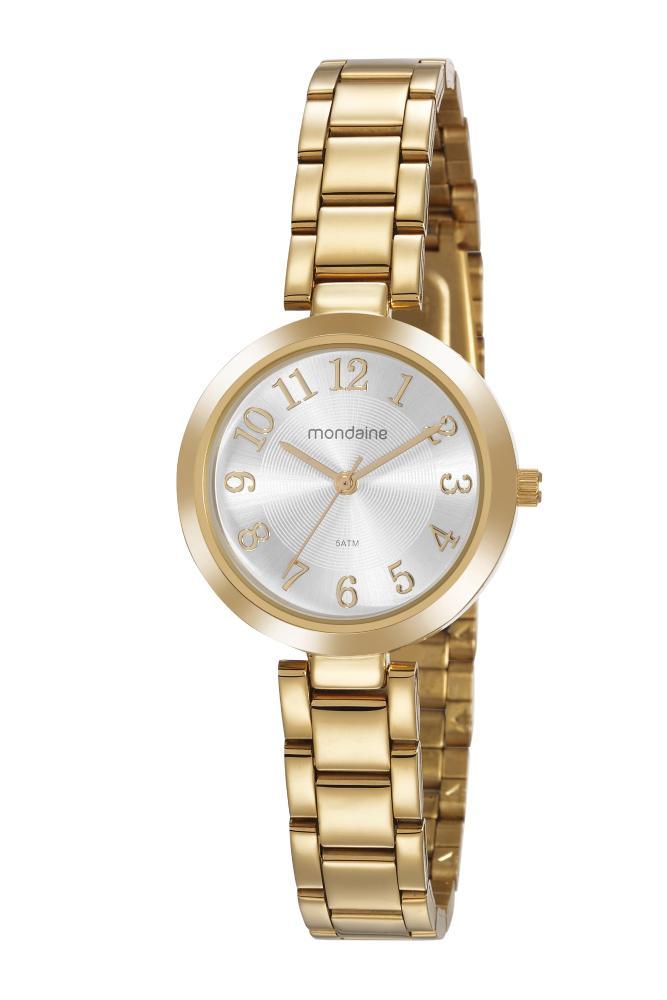 Relógio Feminino Mondaine 32115LPMVDE1 30mm Aço Dourado