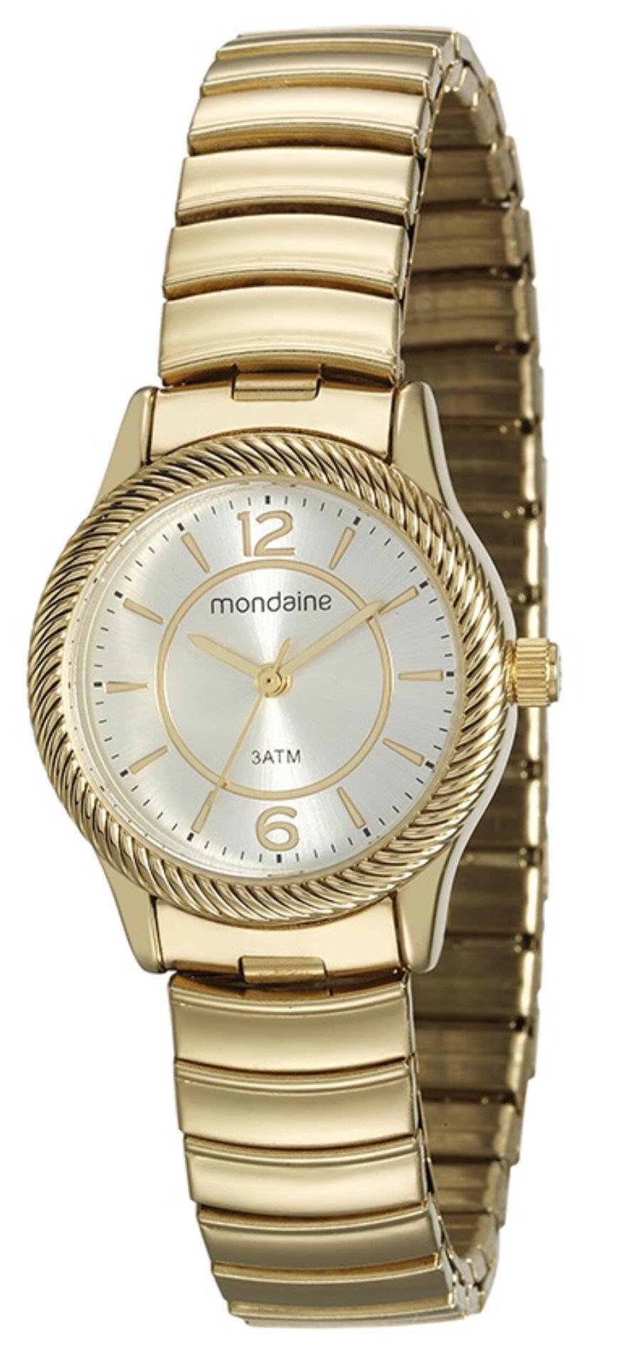 Relógio Feminino Mondaine 53541LPMVDE1 28mm Aço Dourado