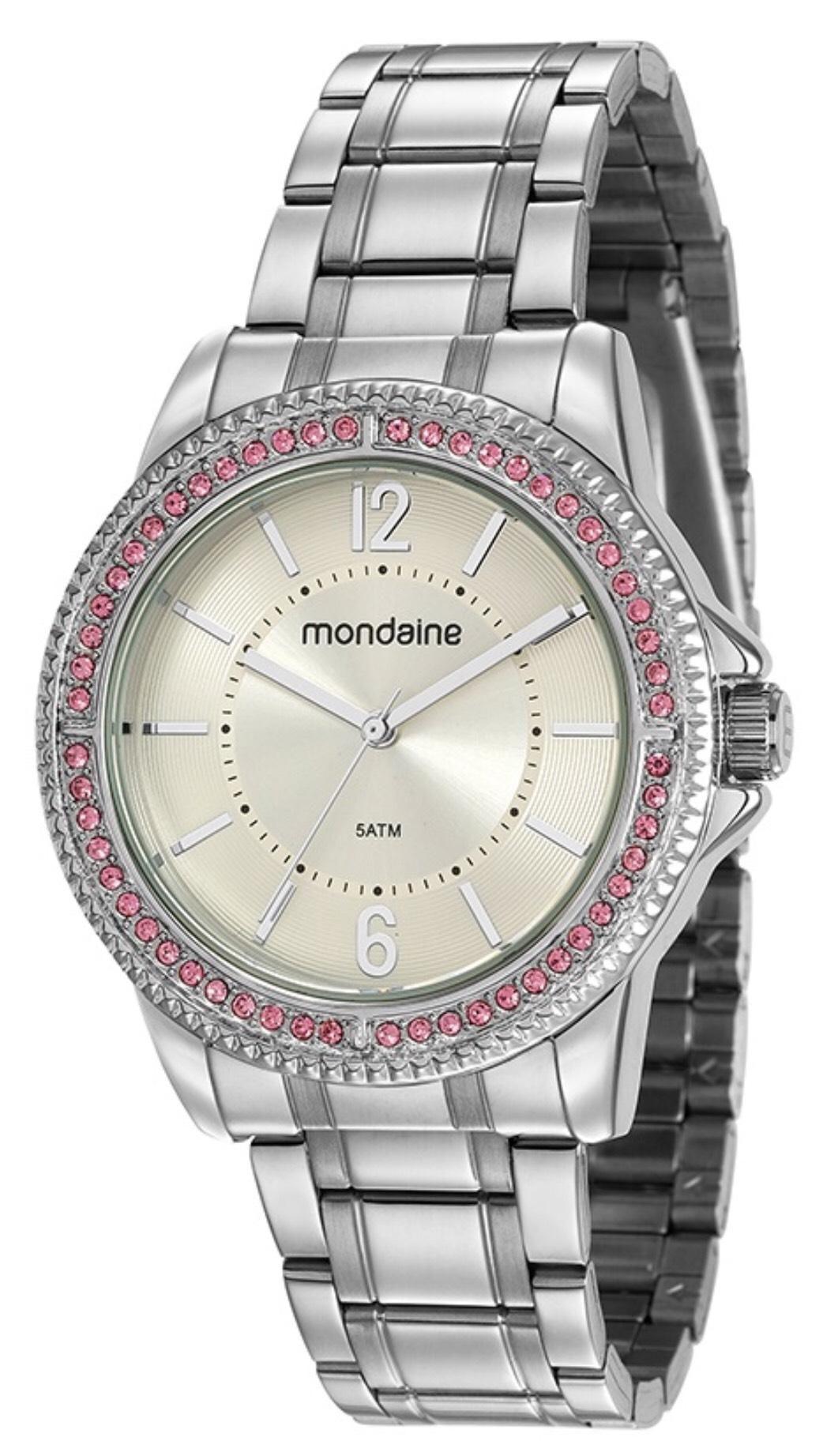Relógio Feminino Mondaine 53601L0MVNE2 40mm Aço Prata