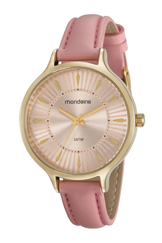 Relógio Feminino Mondaine 53602LPMVDH2 38mm Couro Rosa