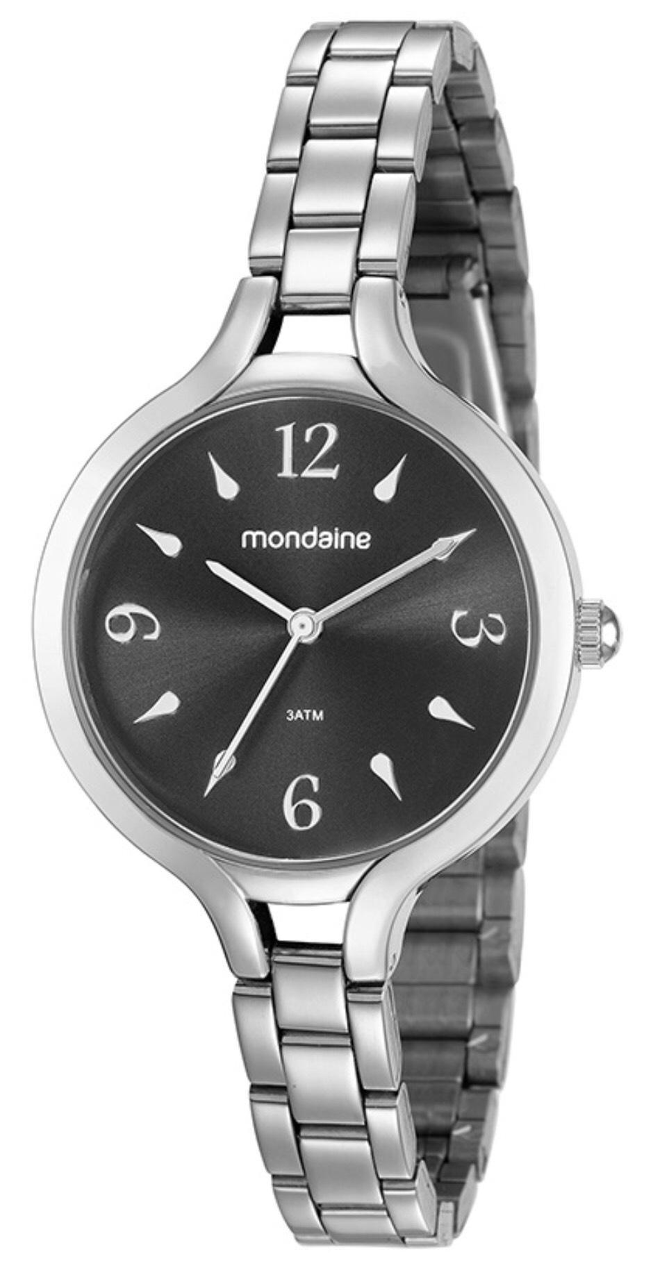 Relógio Feminino Mondaine 53610L0MVNE2 40mm Aço Prata