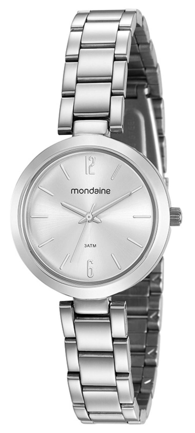 Relógio Feminino Mondaine 53611L0MVNE2 30mm Aço Prata