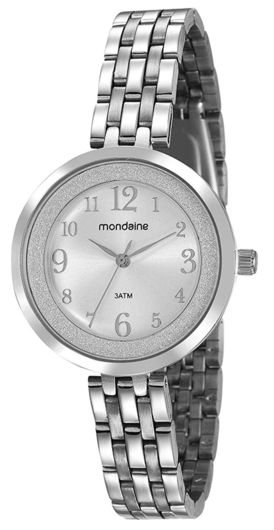Relógio Feminino Mondaine 53622L0MVNE3 34mm Aço Prata