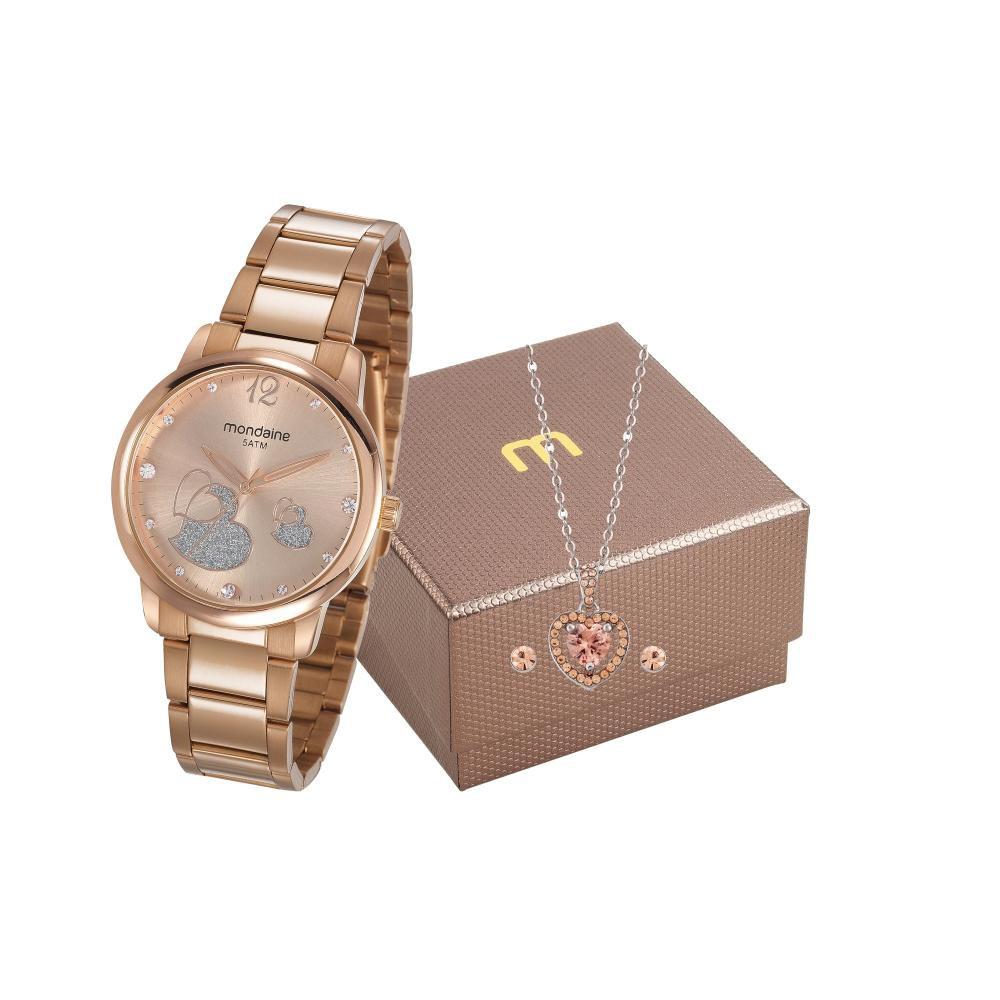 Relógio Feminino Mondaine 53627LPMVRE2K1 40mm Aço Rose