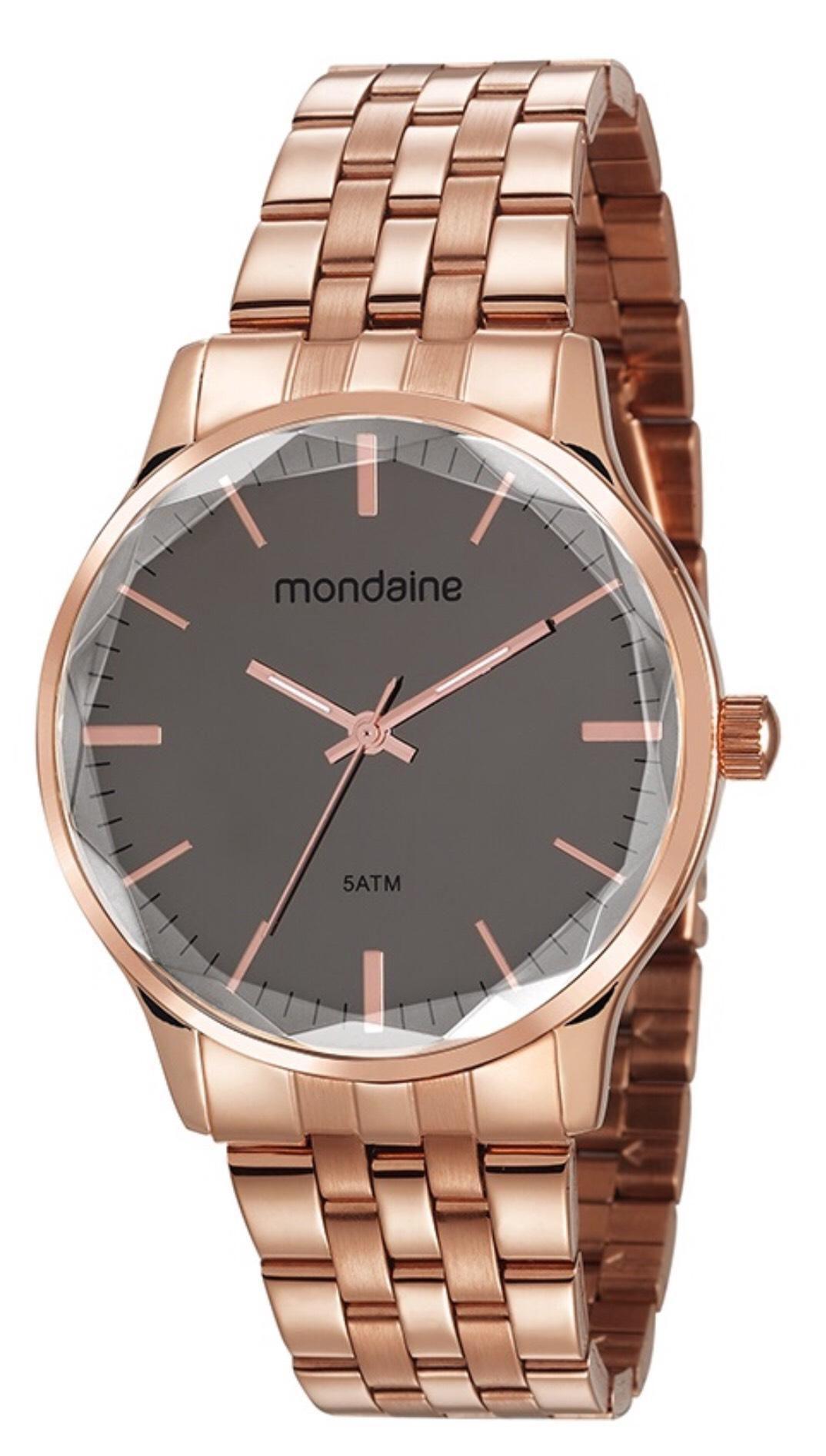 Relógio Feminino Mondaine 53642LPMVRE2 40mm Aço Rose