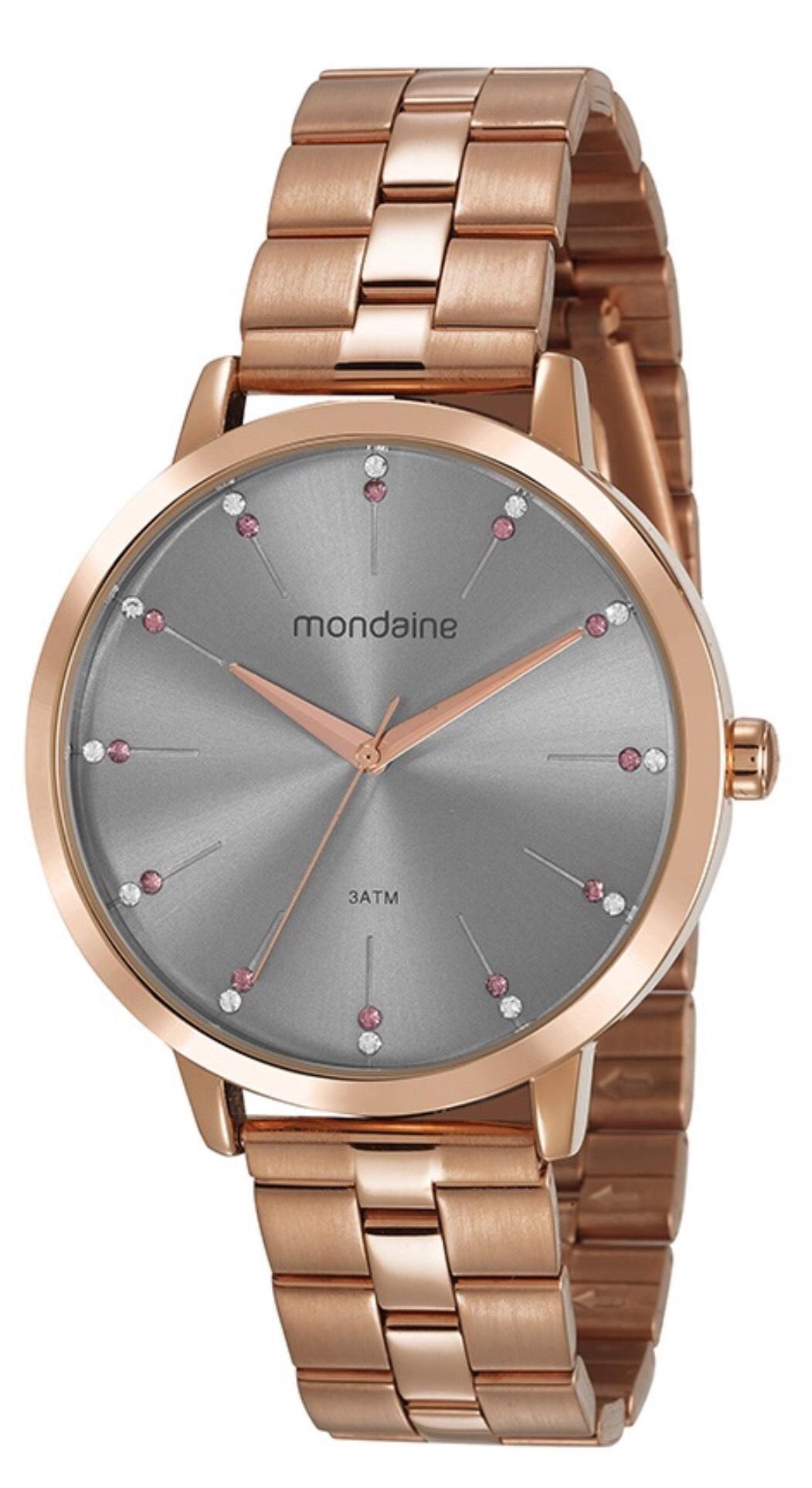 e08053066e2 Relógio Feminino Mondaine 53659LPMVRE3 42mm Aço Rose