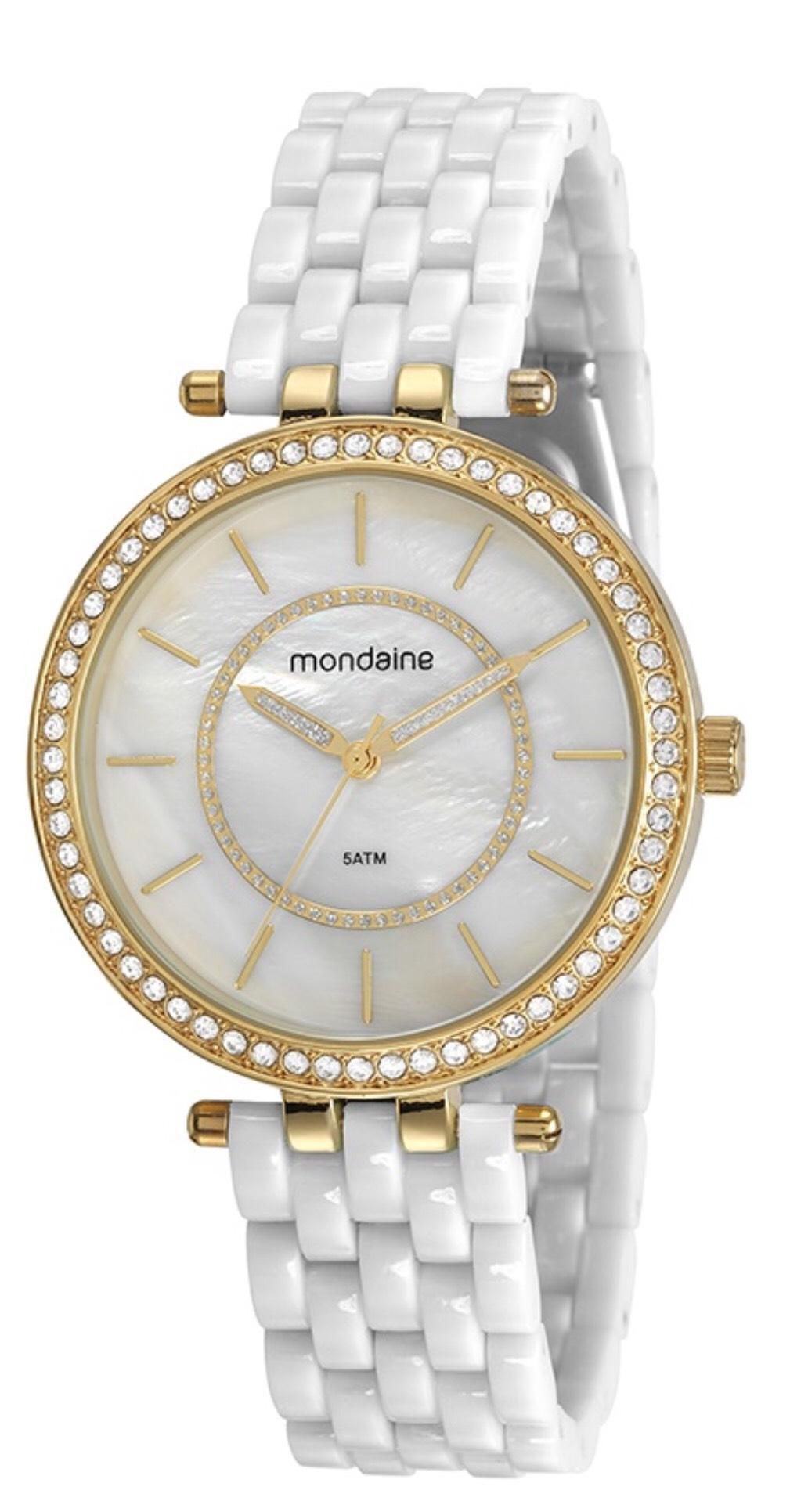 Relógio Feminino Mondaine 53664LPMVDE2 42mm Resina Branca