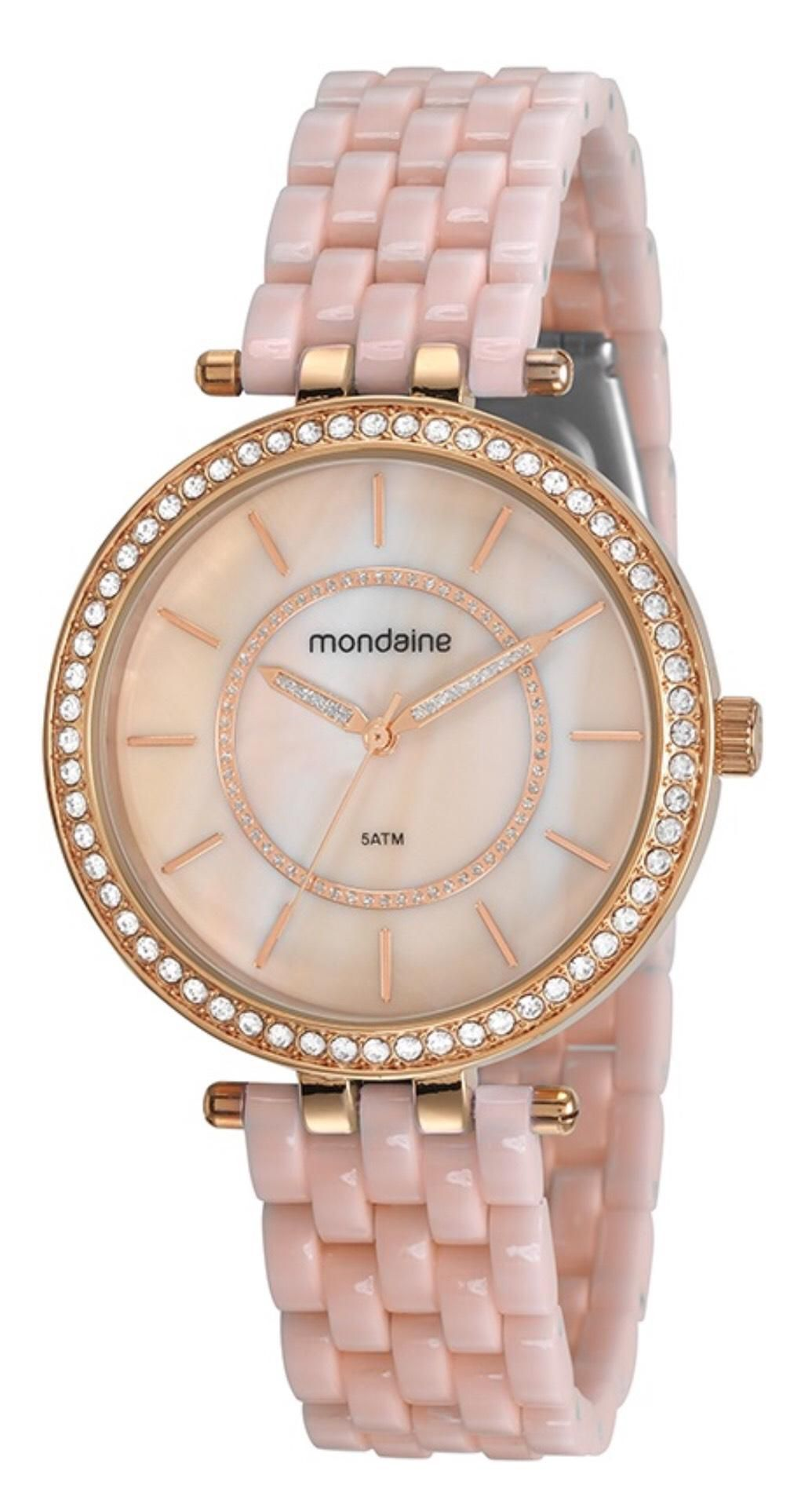f35338ece62 Relógio Feminino Mondaine 53664LPMVRE3 42mm Resina Rosa