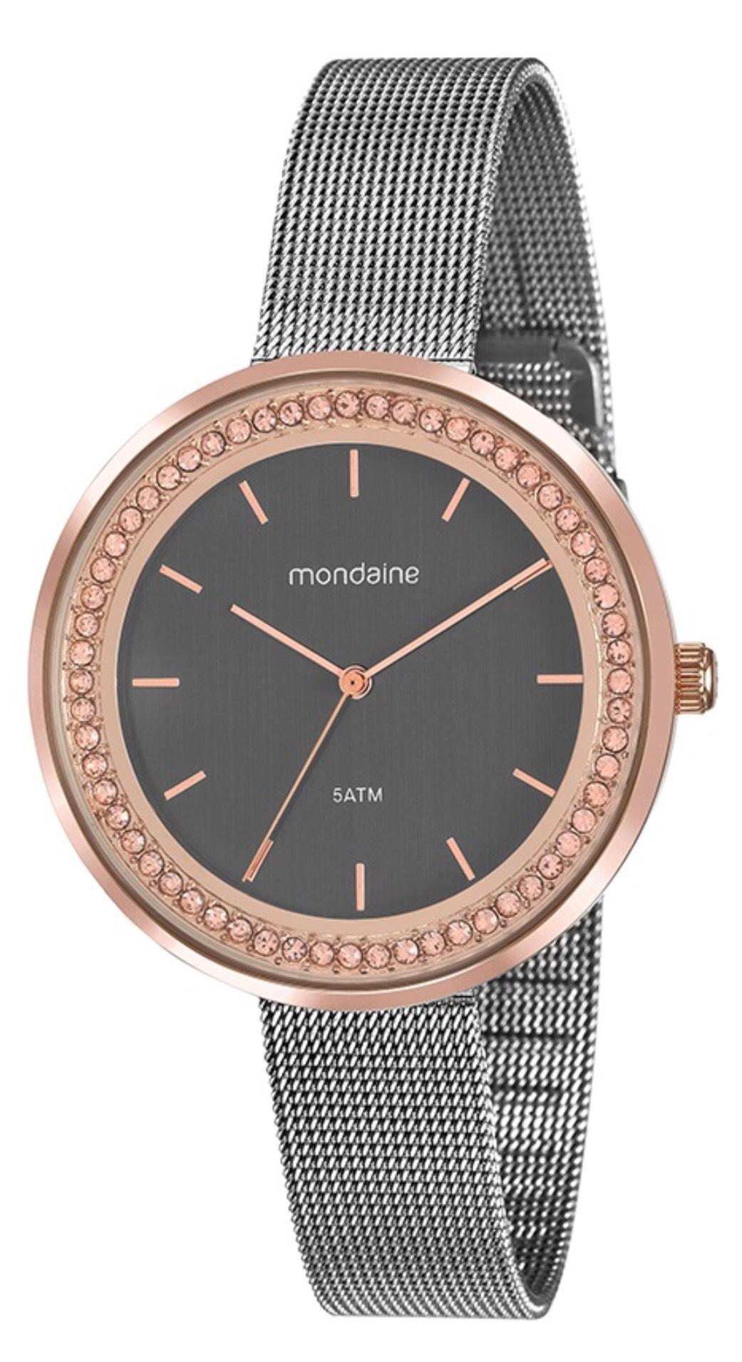 Relógio Feminino Mondaine 53668LPMVGE1 40mm Aço Prata