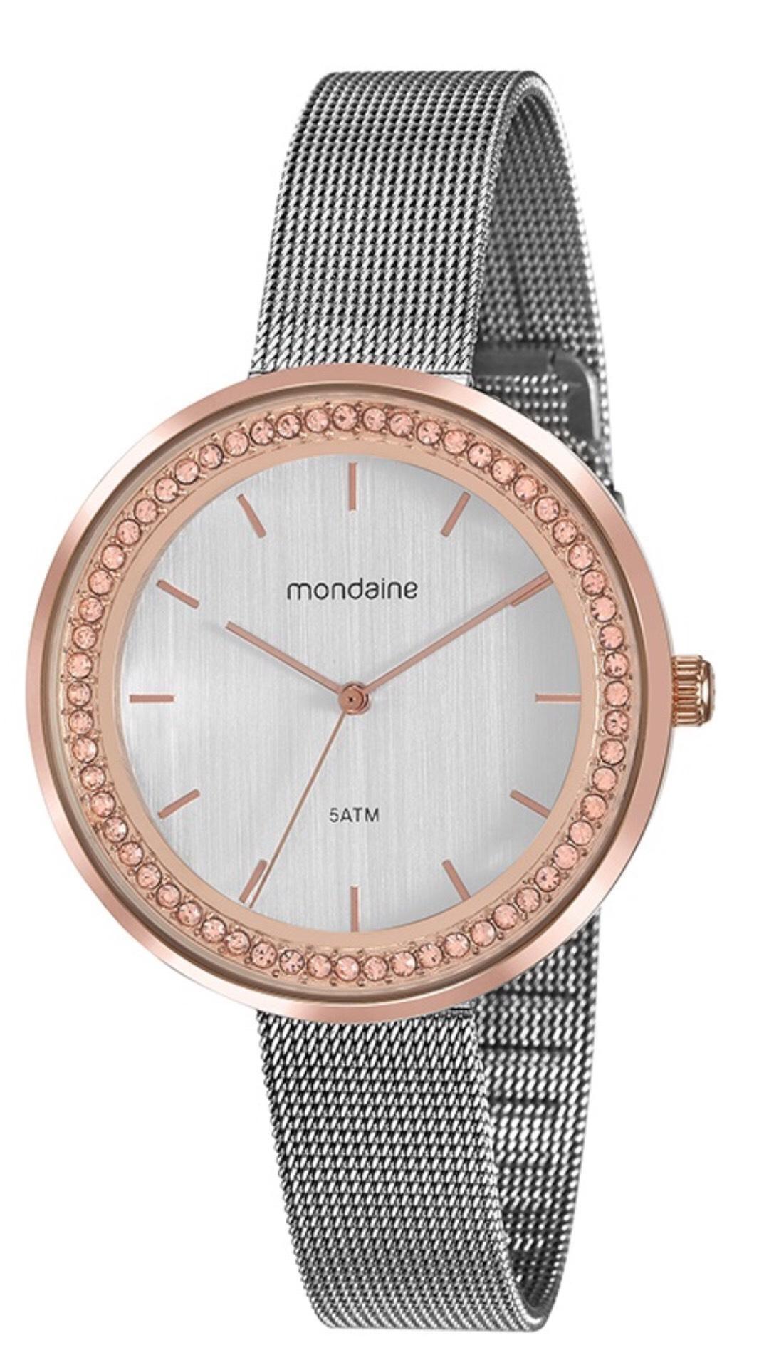 Relógio Feminino Mondaine 53668LPMVGE2 40mm Aço Prata