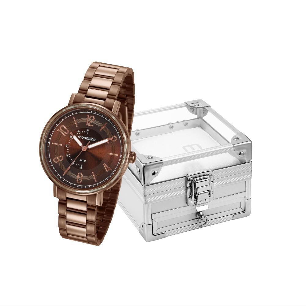 Relógio Feminino Mondaine 53677LPMVME2K2 42mm Aço Marrom