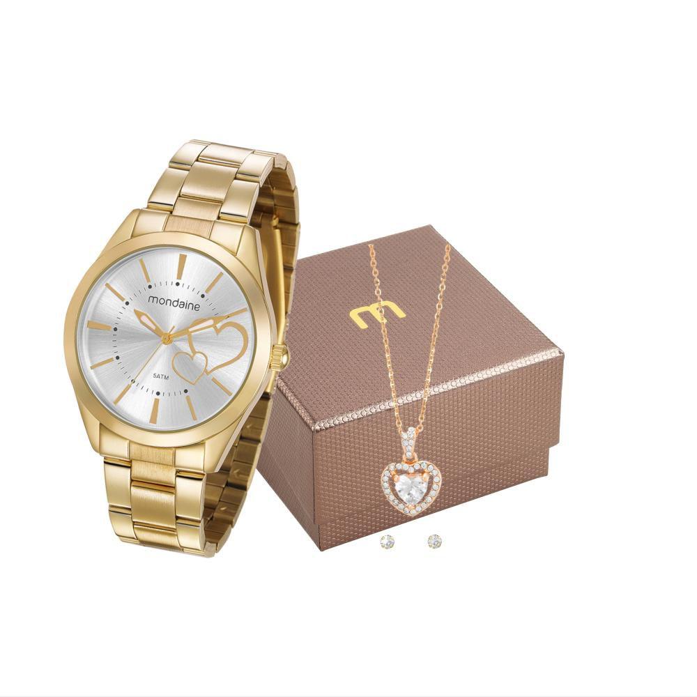 Relógio Feminino Mondaine 53690LPMGDE1K1 40mm Aço Dourado