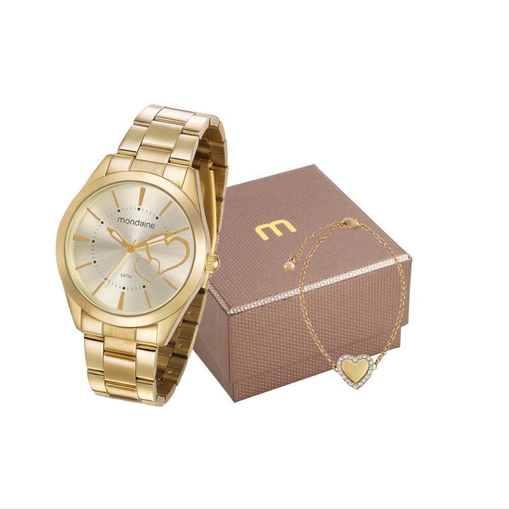 Relógio Feminino Mondaine 53690LPMGDE2K1 40mm Aço Dourado