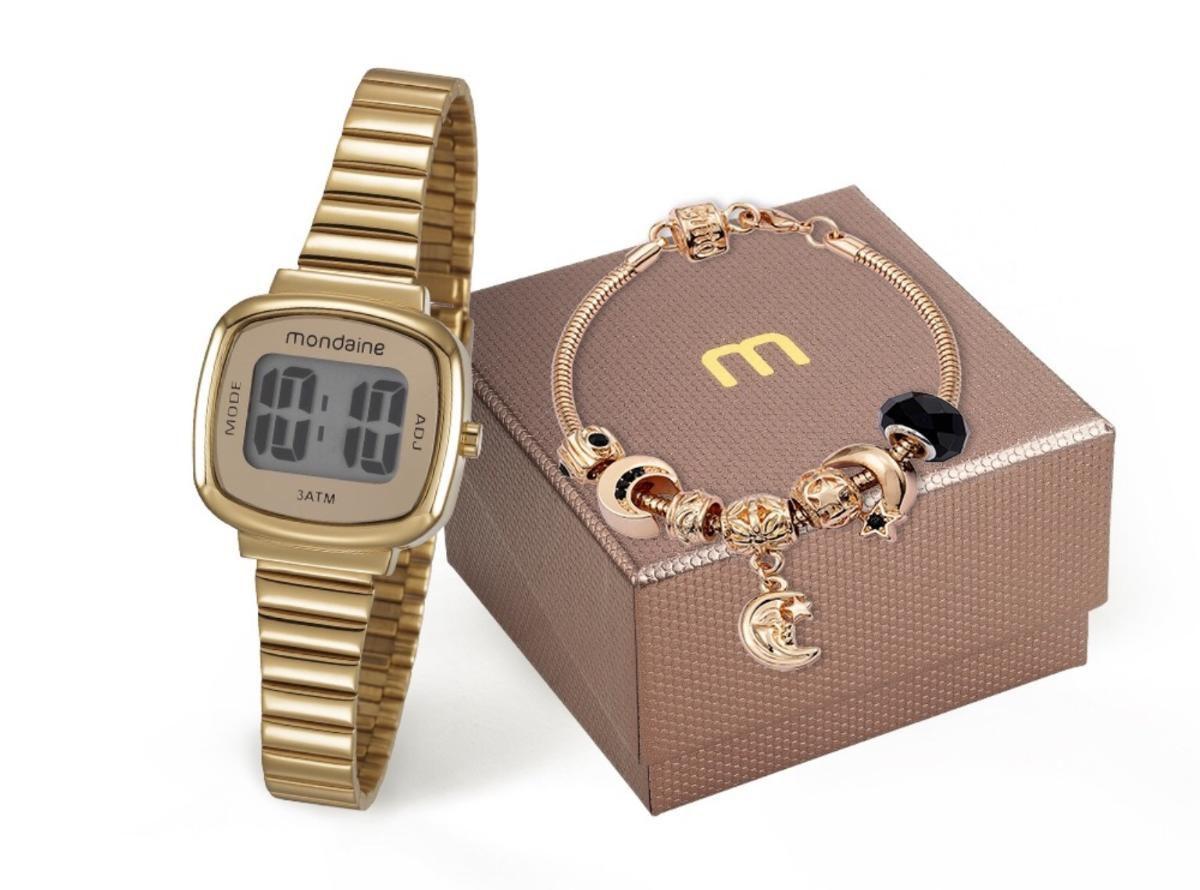 Relógio Feminino Mondaine 53717LPMVDE1K1 27mm Aço Dourado
