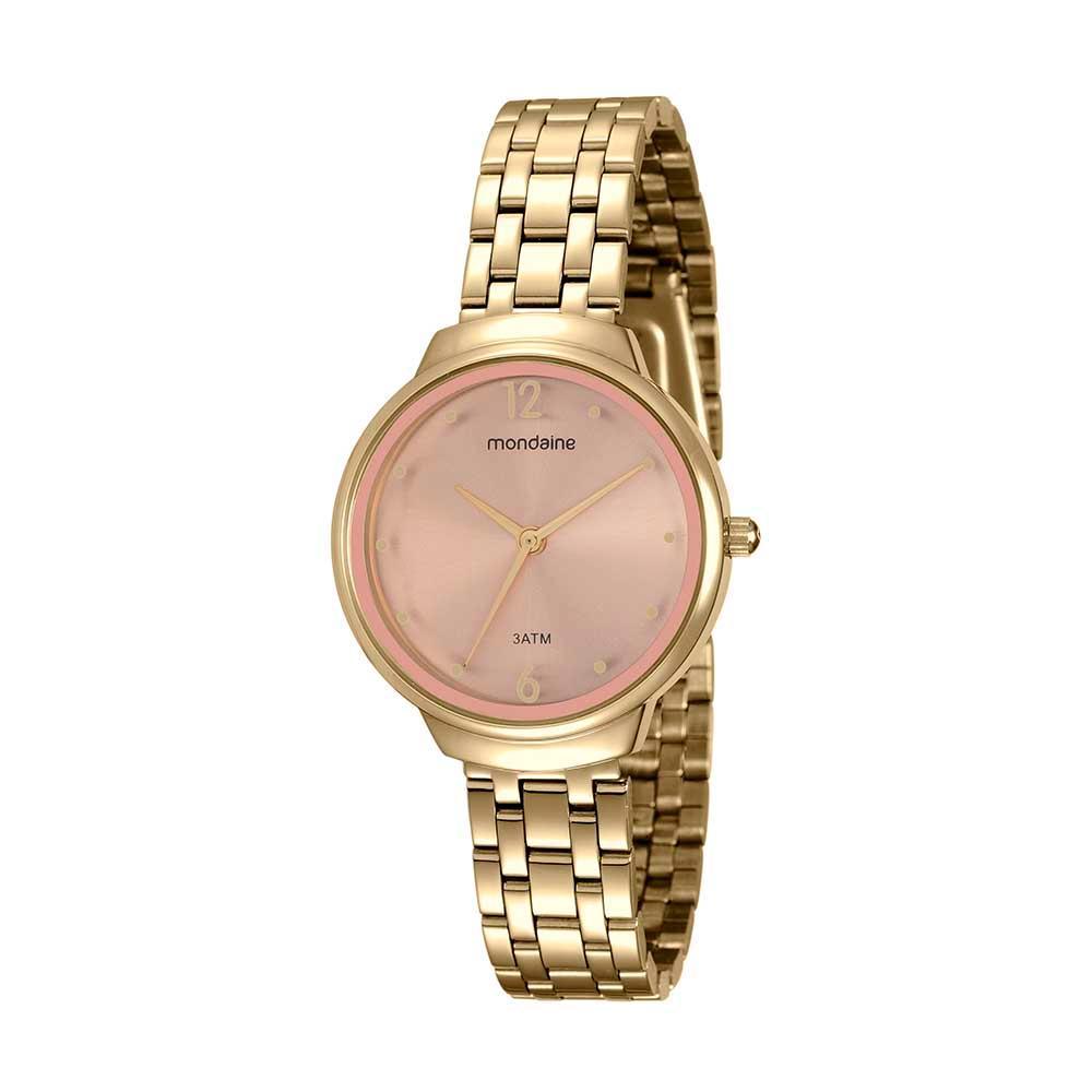 Relógio Feminino Mondaine 53718LPMGDE1 35mm Aço Dourado