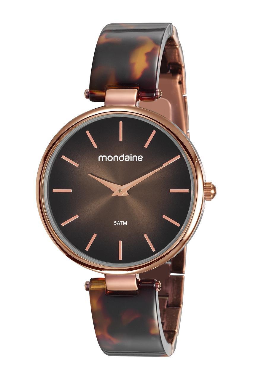 Relógio Feminino Mondaine 53775LPMVMF1 40mm Resina Marrom Efeito Tartaruga