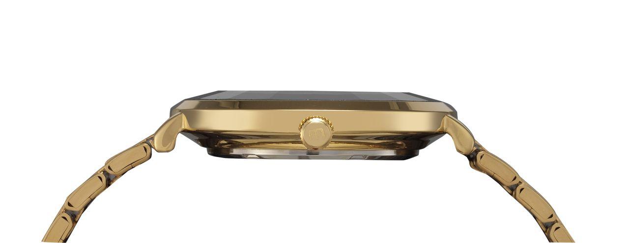 Relógio Feminino Mondaine 76718LPMVDE3 42mm Aço Dourado