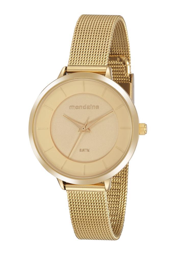 Relógio Feminino Mondaine 76748LPMVDE3 38mm Aço Dourado