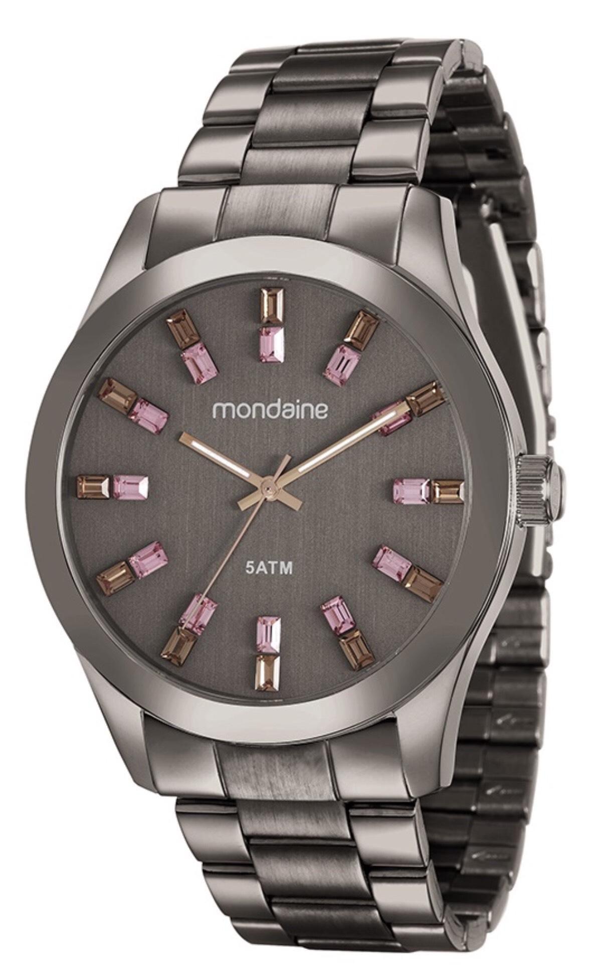 7e3b7d0ddad Relógio Feminino Mondaine 78663LPMVMA6 43mm Aço Marrom